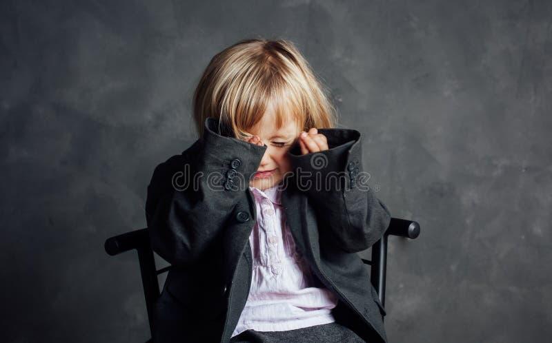 Ritratto della bambina impressionabile fotografia stock libera da diritti