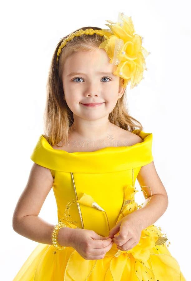 Ritratto della bambina sveglia in vestito dalla principessa immagini stock libere da diritti