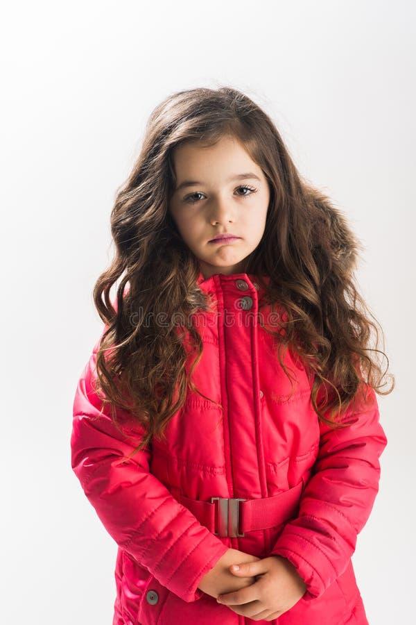 Ritratto della bambina triste immagini stock