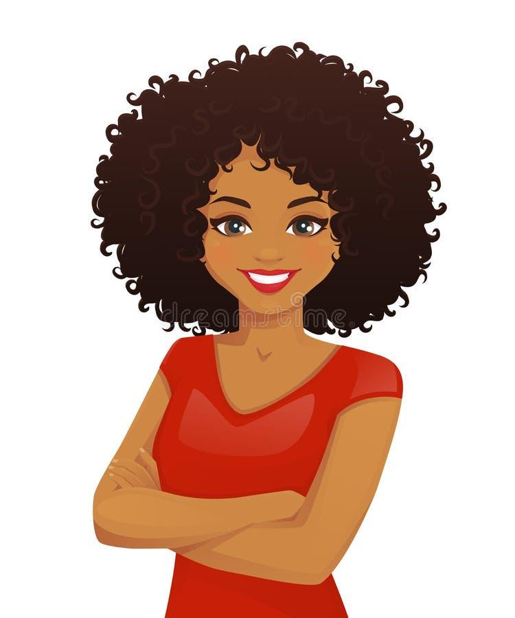 Ritratto della donna illustrazione vettoriale