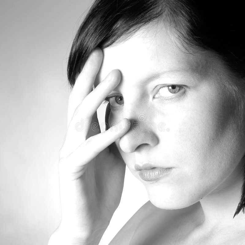 Download Ritratto della donna fotografia stock. Immagine di nero - 200606
