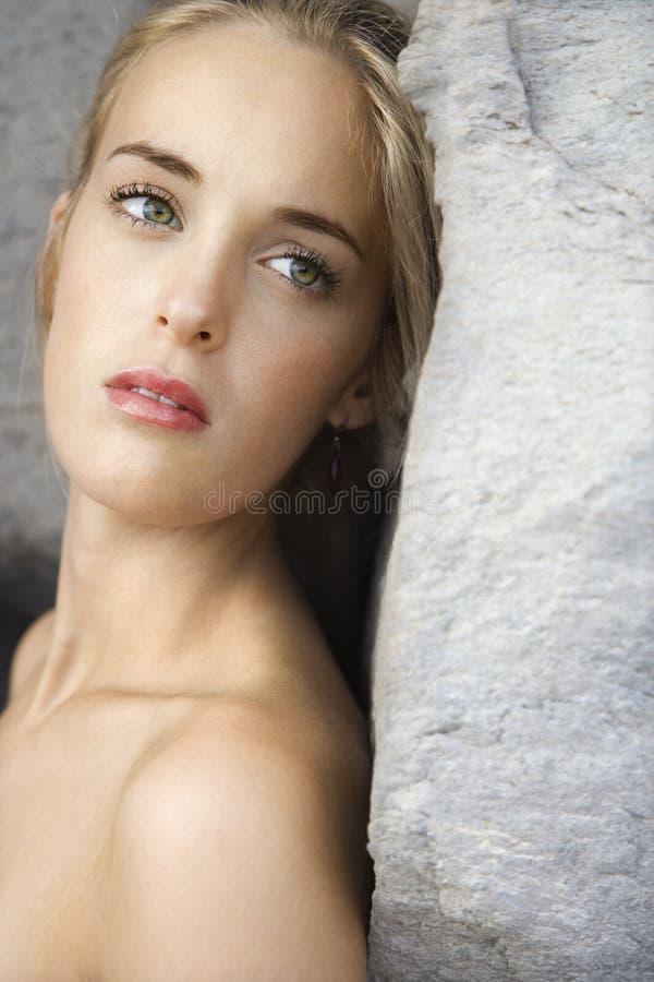 Ritratto della donna. fotografia stock