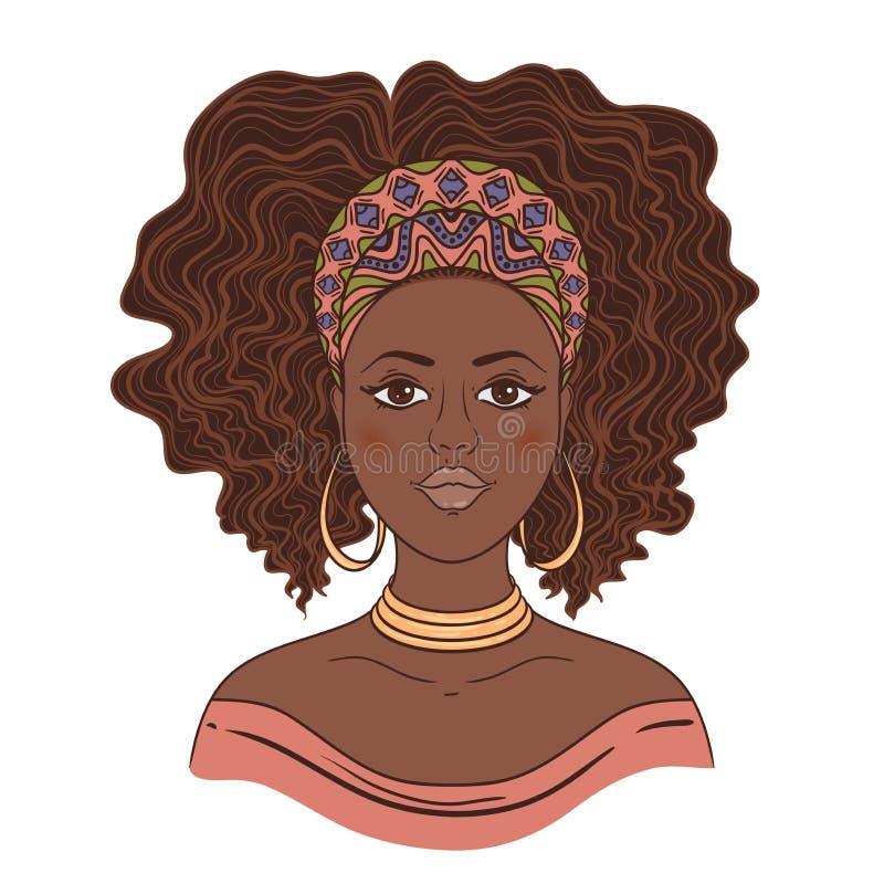 Ritratto della donna africana illustrazione vettoriale