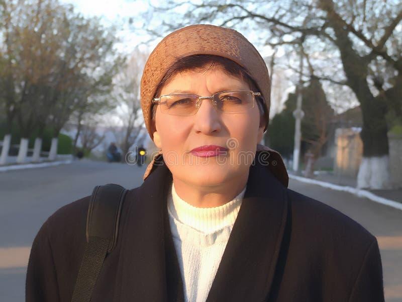 Ritratto della donna anziana. fotografia stock libera da diritti