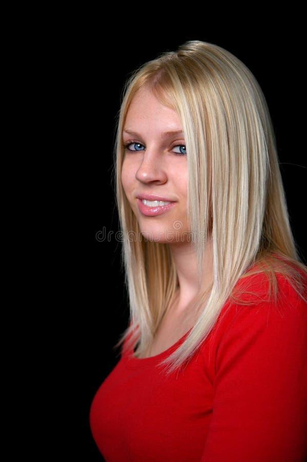 Ritratto della donna bionda fotografia stock