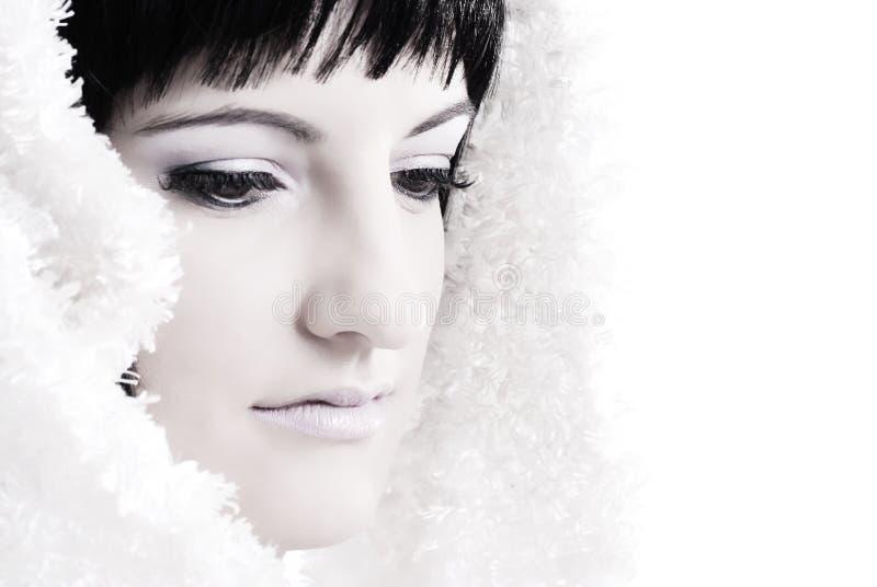 Ritratto della donna del brunette immagine stock libera da diritti