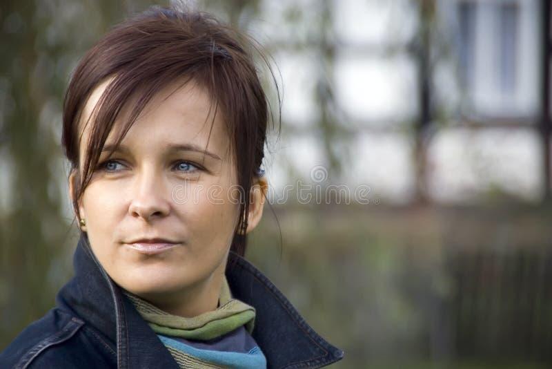 Ritratto della donna del Brunette fotografie stock