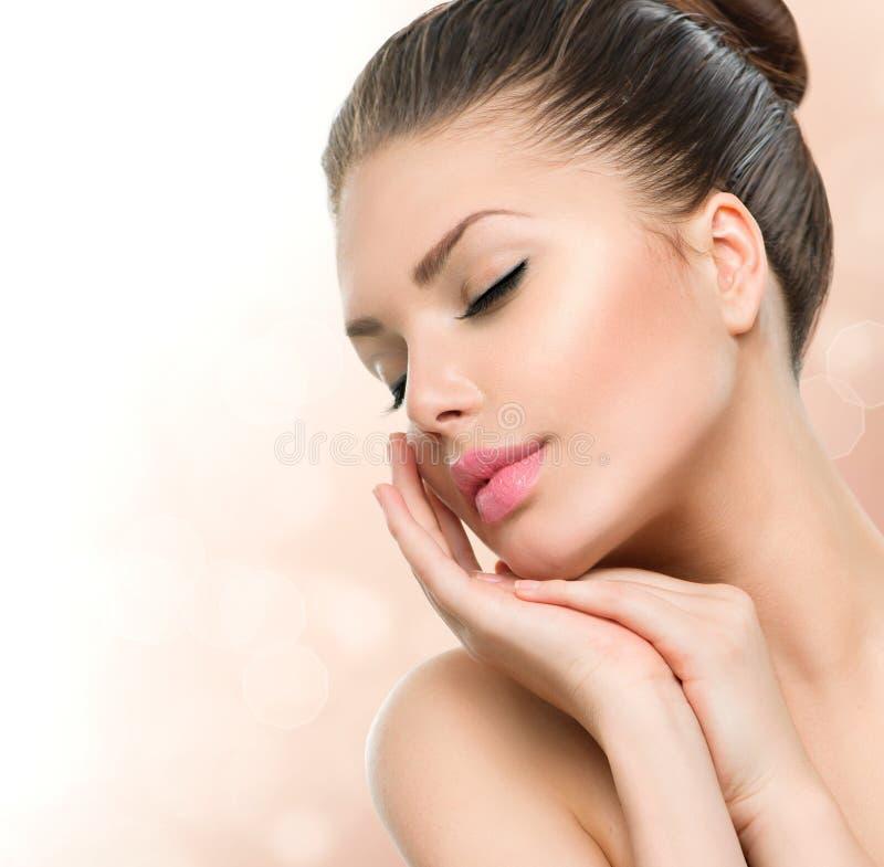 Ritratto della donna della stazione termale di bellezza immagini stock