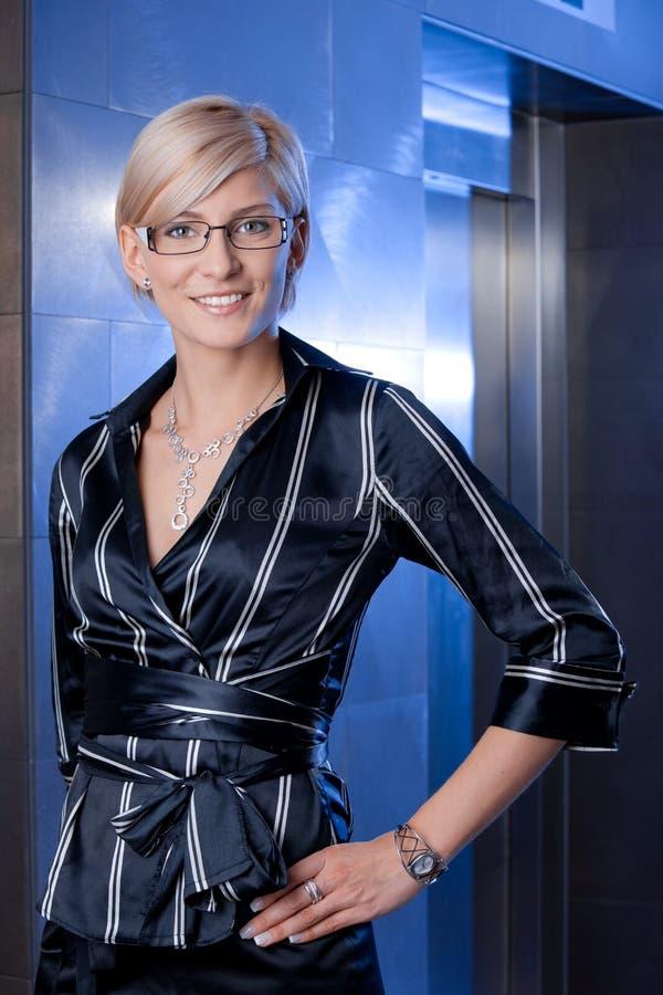 Ritratto della donna di affari immagine stock libera da diritti