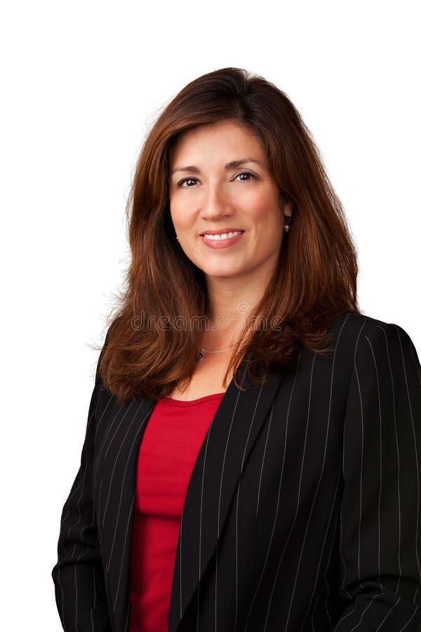Ritratto della donna di affari abbastanza matura fotografie stock