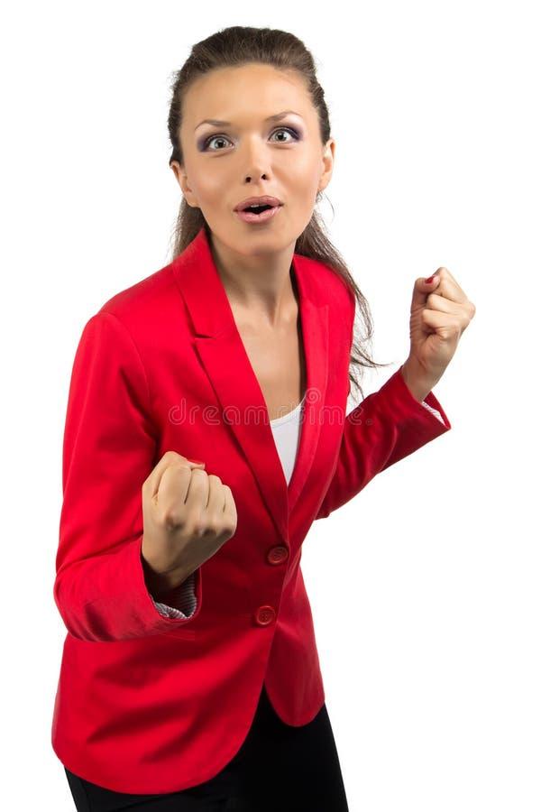 Ritratto della donna di affari felice immagine stock libera da diritti