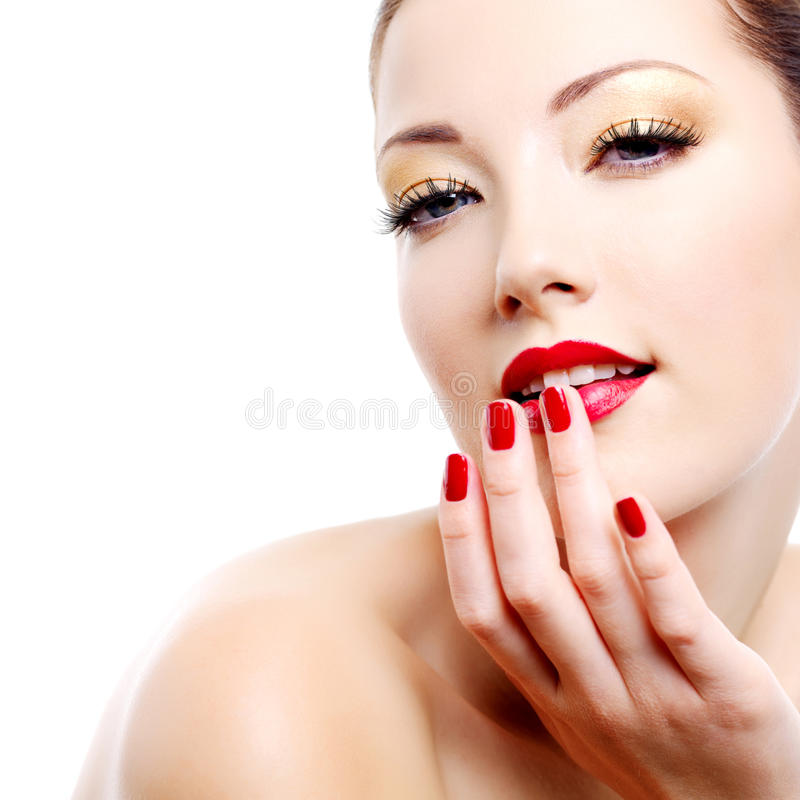 Ritratto della donna di fascino di sensualità immagine stock libera da diritti