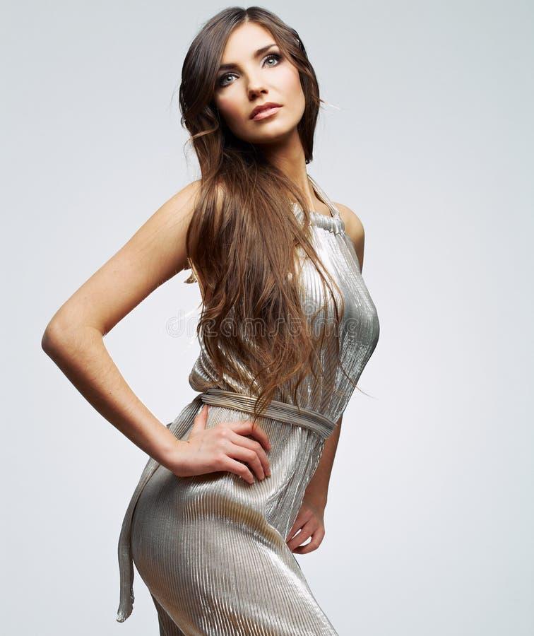 Ritratto della donna di modo Giovane modello femminile immagini stock