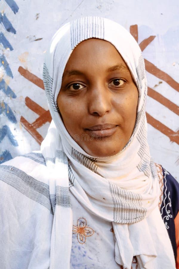 Ritratto della donna di Nubian fotografia stock