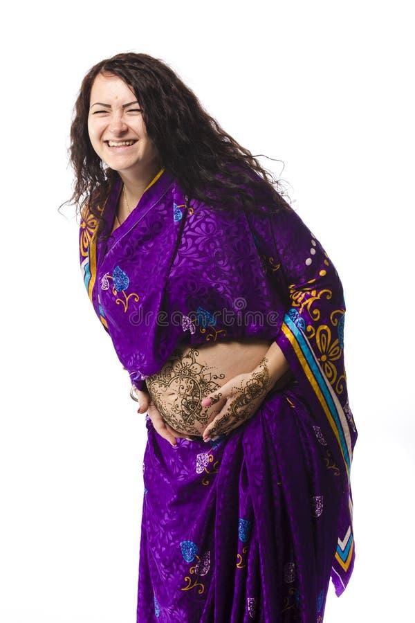 Ritratto della donna di Pregant immagini stock libere da diritti