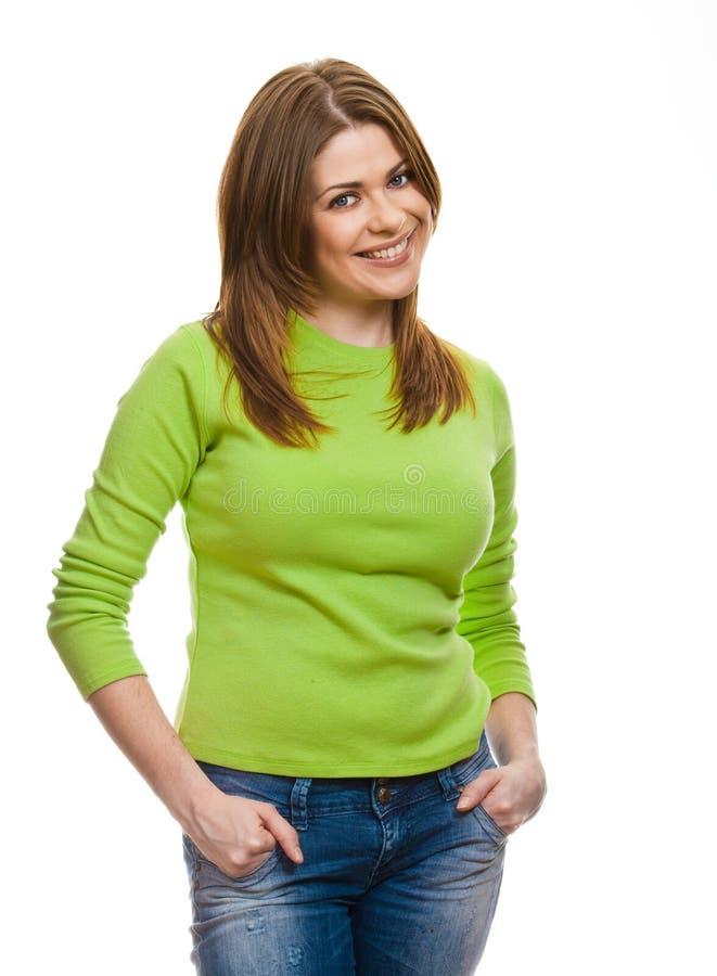 Ritratto della donna felice immagini stock libere da diritti