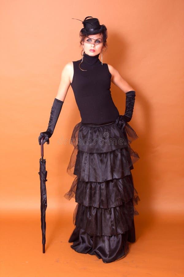 Ritratto della donna gotica immagini stock