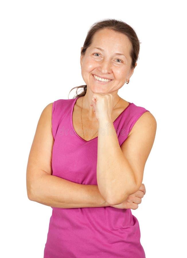 Ritratto della donna matura felice immagini stock
