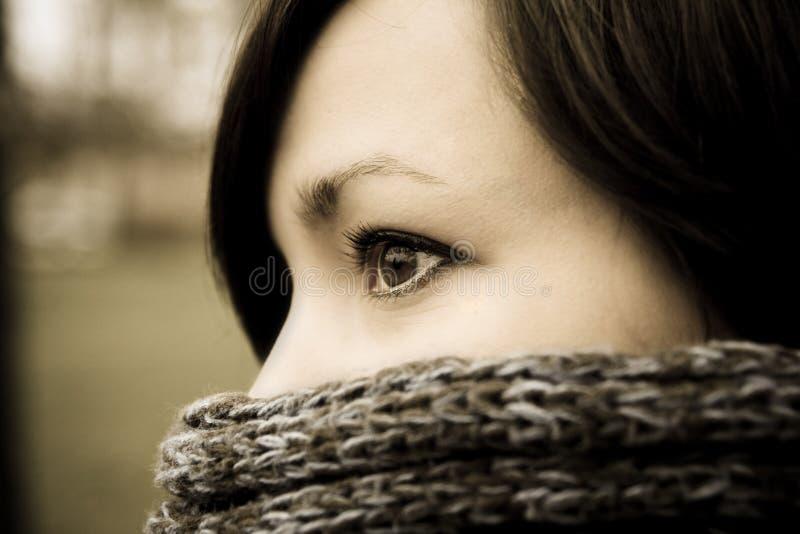 Ritratto della donna misteriosa fotografie stock libere da diritti