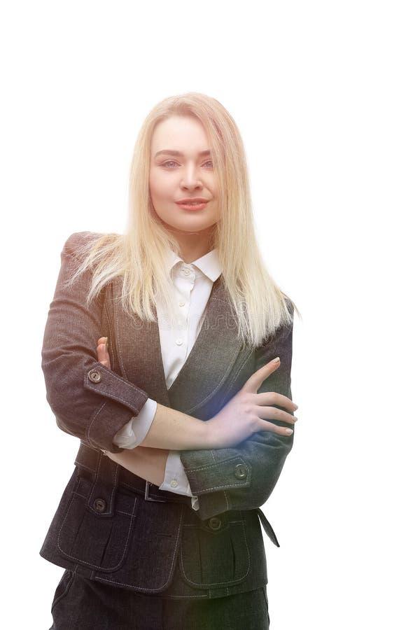 Ritratto della donna moderna di affari I fotografie stock