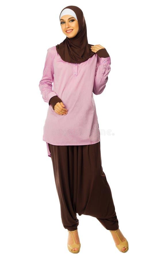 Ritratto della donna musulmana immagini stock libere da diritti