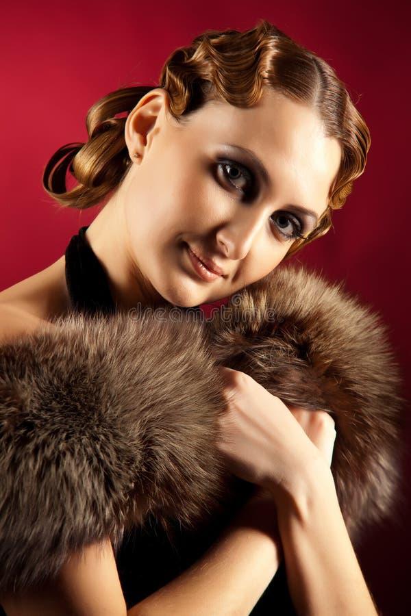 Ritratto della donna nello stile classico immagini stock