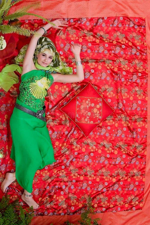 Ritratto della donna orientale immagini stock