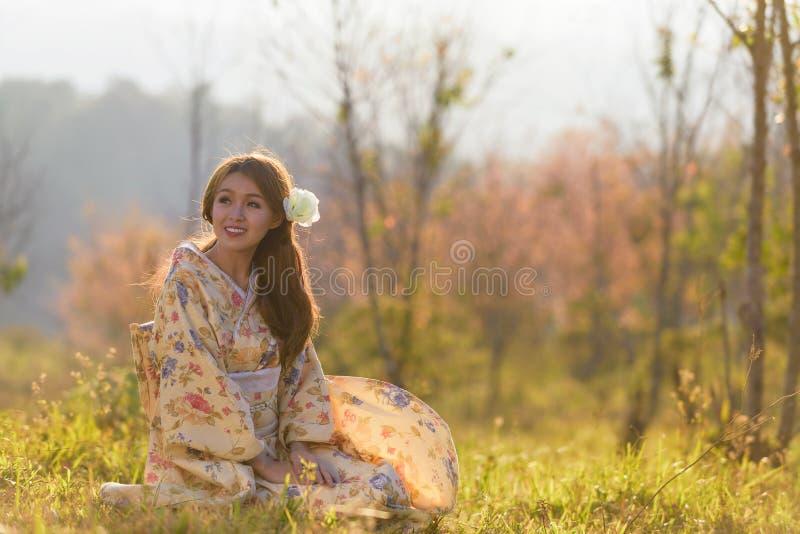 Ritratto della donna tradizionale asiatica fotografie stock