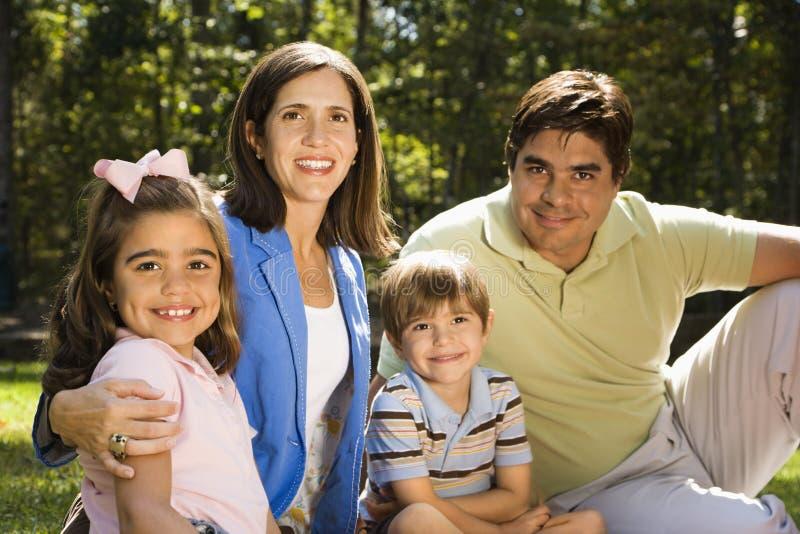 Ritratto della famiglia. fotografia stock