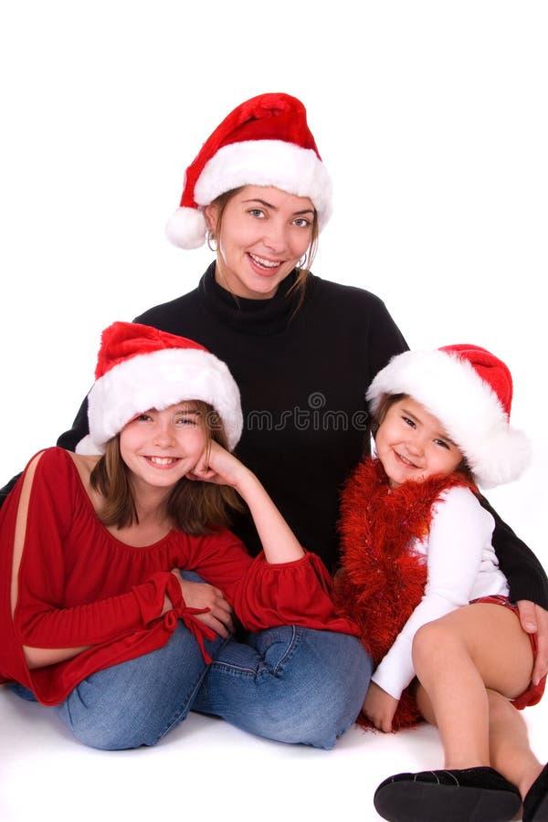 Ritratto della famiglia di natale. fotografie stock