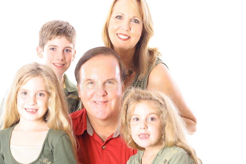 Download Ritratto Della Famiglia Isolato Su Bianco Fotografia Stock - Immagine di amore, people: 3883804