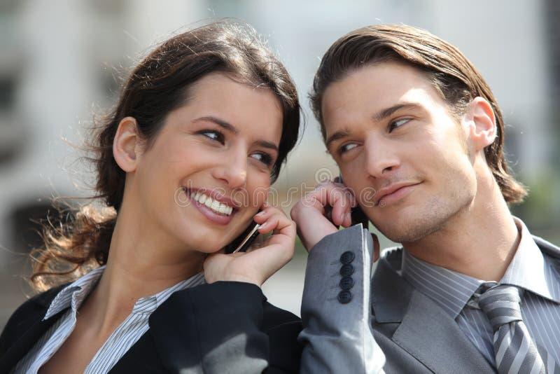 Ritratto della gente di affari sorridere fotografia stock libera da diritti