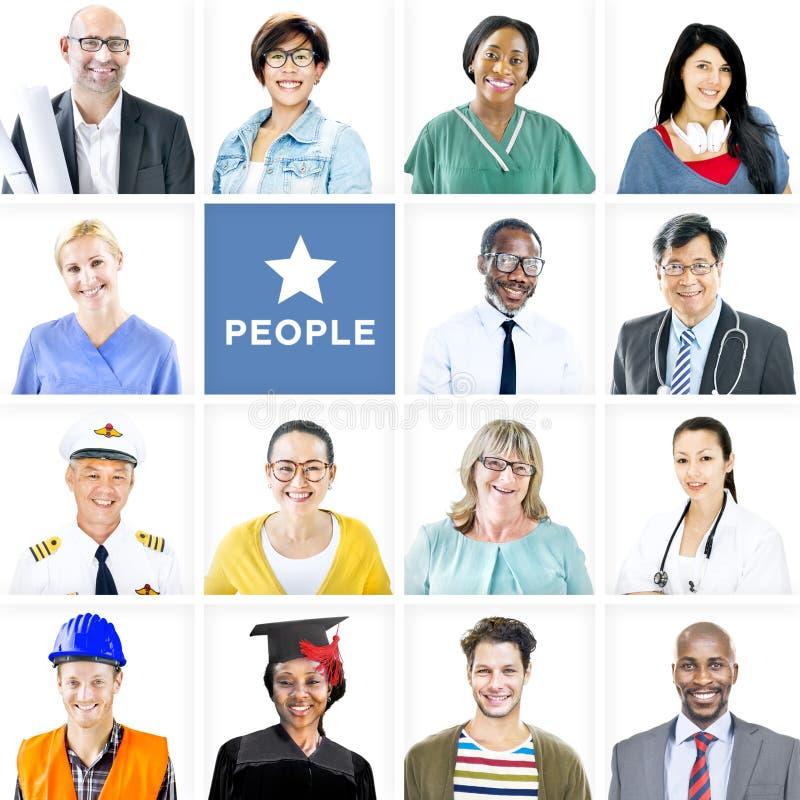 Ritratto della gente mista multietnica di occupazioni fotografia stock