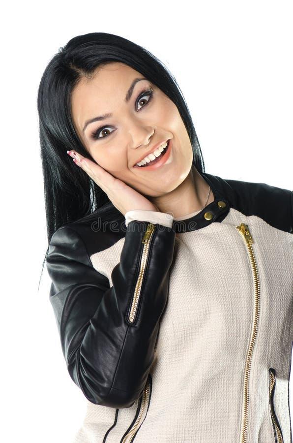 Ritratto della giovane donna, bello e castana fotografie stock libere da diritti