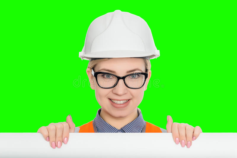 ritratto della lavoratrice immagini stock libere da diritti