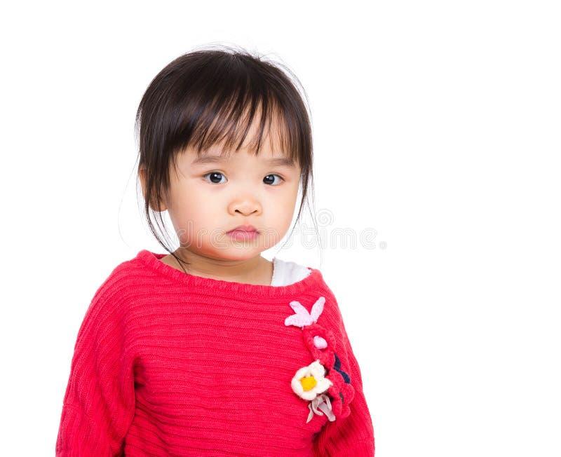 Ritratto della neonata asiatica immagine stock
