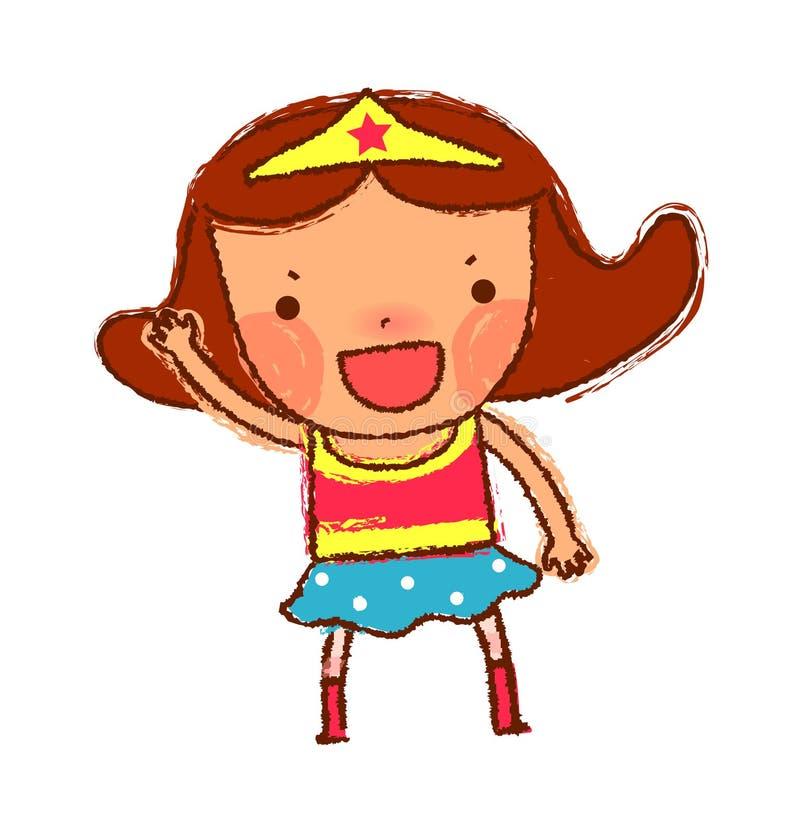 Ritratto della ragazza royalty illustrazione gratis