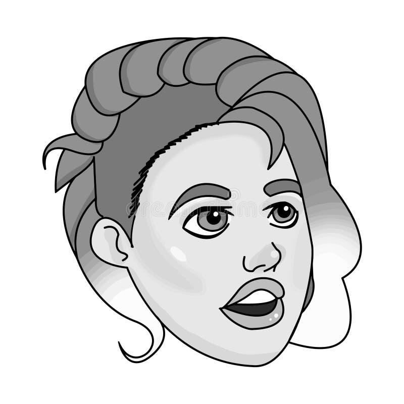 Ritratto della ragazza in bianco e nero immagini stock