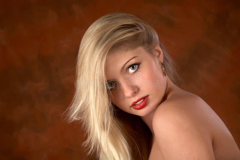 Ritratto della ragazza con capelli bianchi fotografia stock