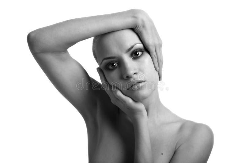 Ritratto della ragazza con trucco immagine stock libera da diritti