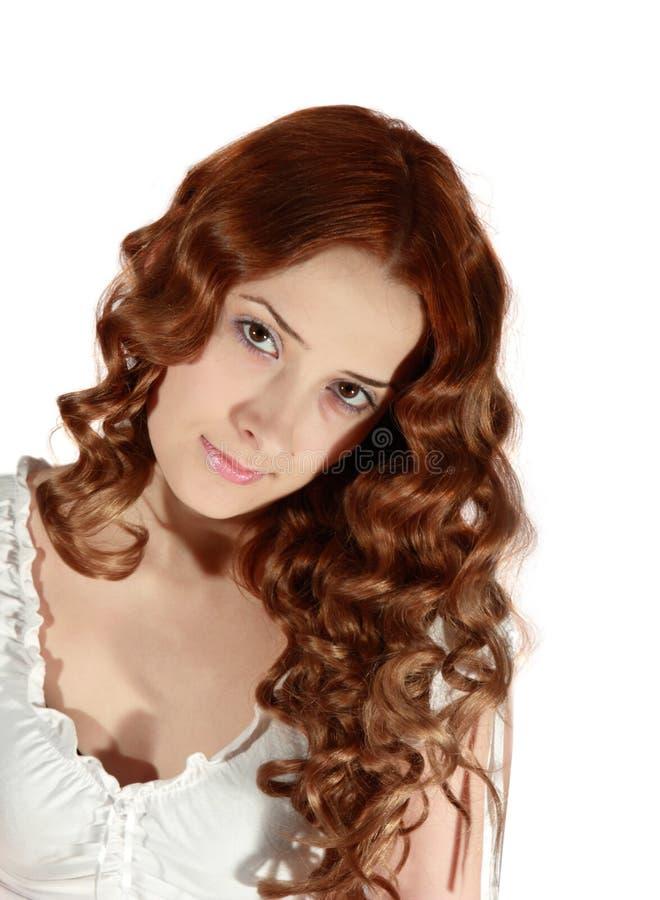 Ritratto della ragazza dai capelli lunghi immagini stock libere da diritti