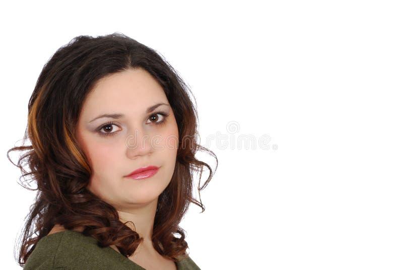 Ritratto della ragazza del Brunette fotografia stock