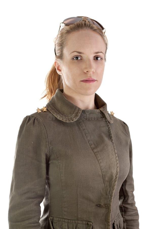 Ritratto della ragazza del soldato fotografia stock