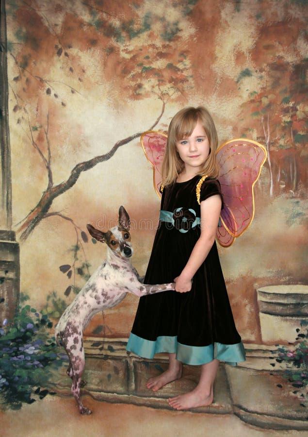 Ritratto della ragazza della farfalla immagini stock