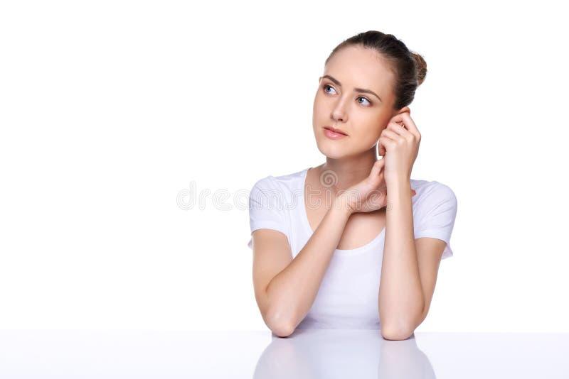 Ritratto della ragazza di bellezza immagine stock