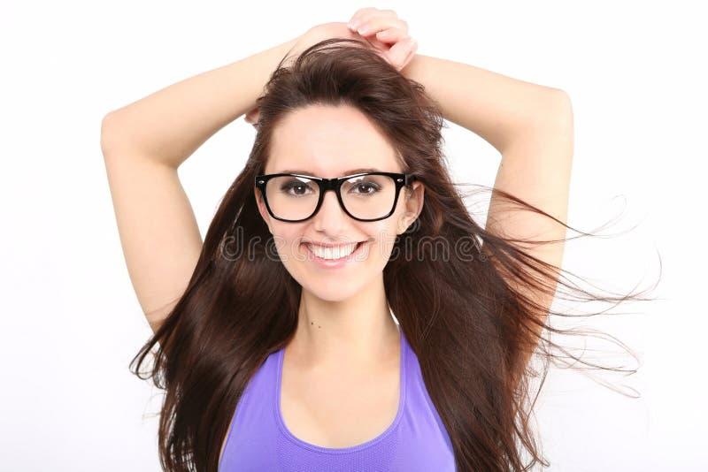 Ritratto della ragazza di bellezza con capelli lunghi immagine stock