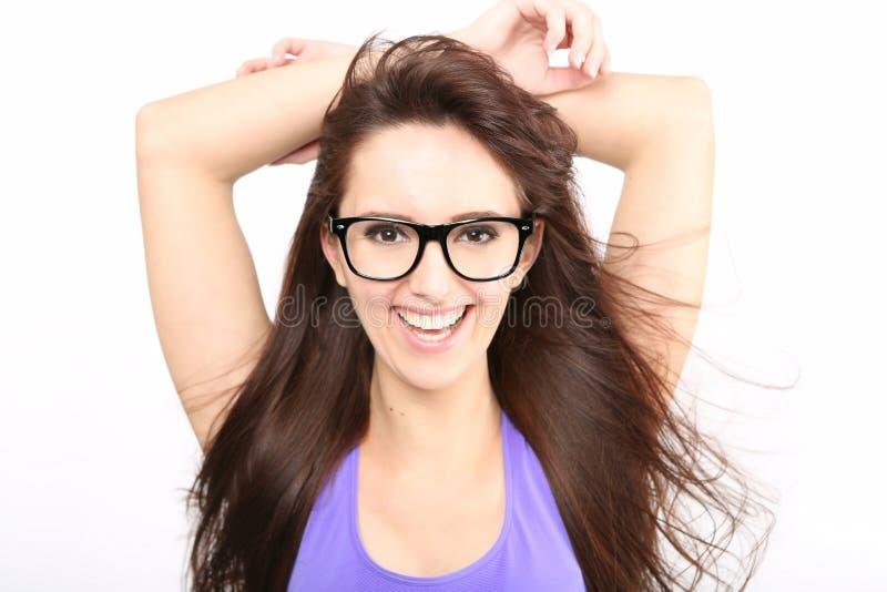 Ritratto della ragazza di bellezza con capelli lunghi fotografie stock