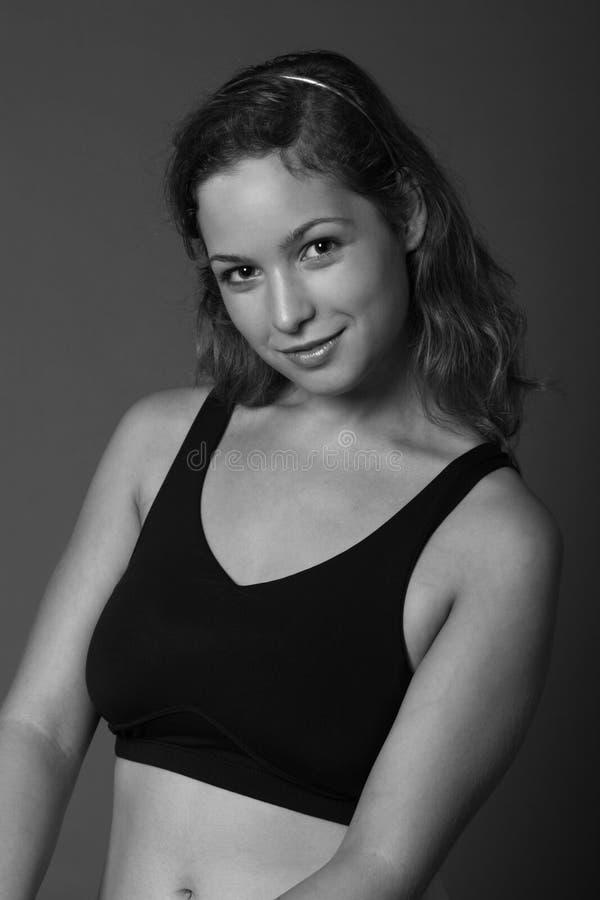 Ritratto della ragazza di forma fisica fotografia stock
