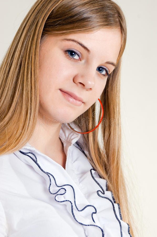 Ritratto della ragazza di quindici anni immagine stock