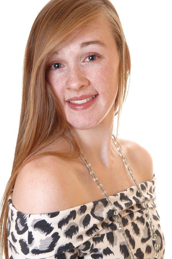 Ritratto della ragazza graziosa. fotografia stock libera da diritti
